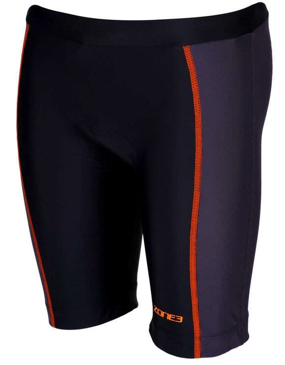 Zone 3 Junior Tri Shorts - Black and Orange