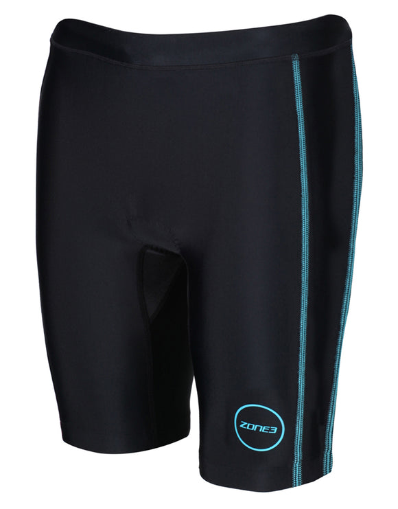 Zone3 Womens Activate Shorts - Black and Turquoise