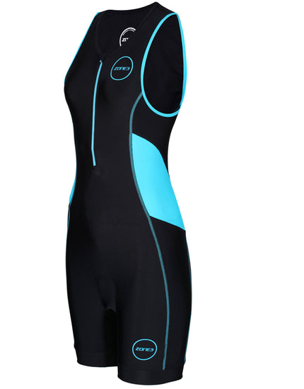 Zone3 Womens Activate Trisuit - Black and Turquoise