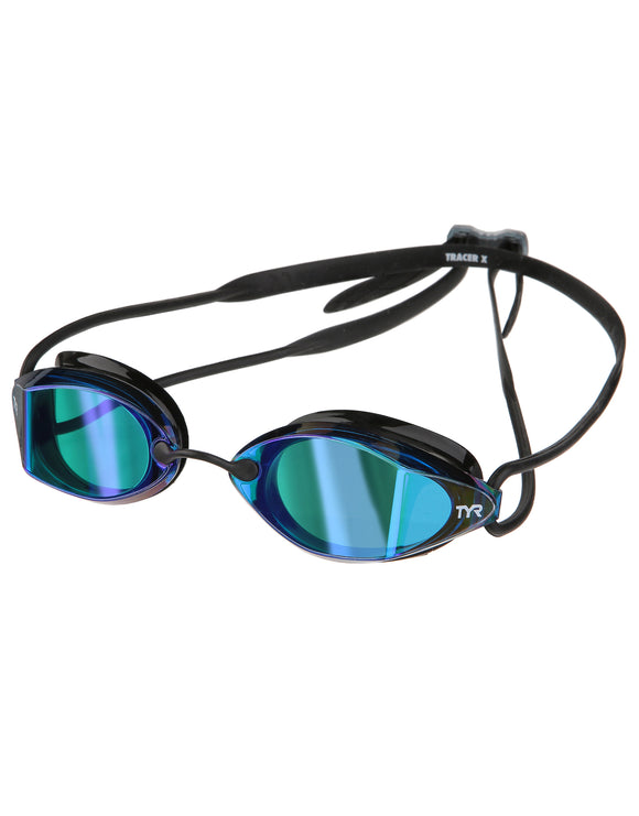 Tyr Tracer X Racing Mirrored Goggle - Blue/Black