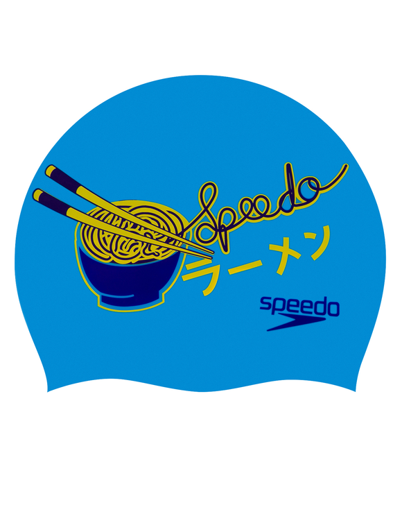 Speedo Noodles Junior Slogan Swim Cap