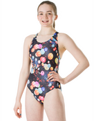 Speedo Girls Endurance 10 Mizu Lanterns Splashback Swimsuit