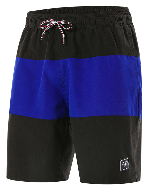 Speedo Panel Leisure 18 inch Watershort - Black and Blue