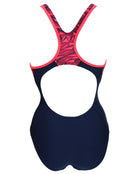 Speedo Endurance 10 Fit Laneback - Navy and Red