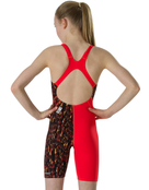 Speedo Girls Fastskin Endurance Plus Openback Kneeskin - Lava Red