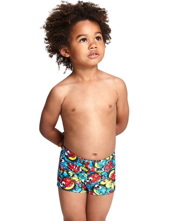 Zoggs Tots Boys Funfetti Hip Racer Swimming Trunk