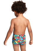 Zoggs Tots Boys Funfetti Hip Racer Swimming Trunk Rear View