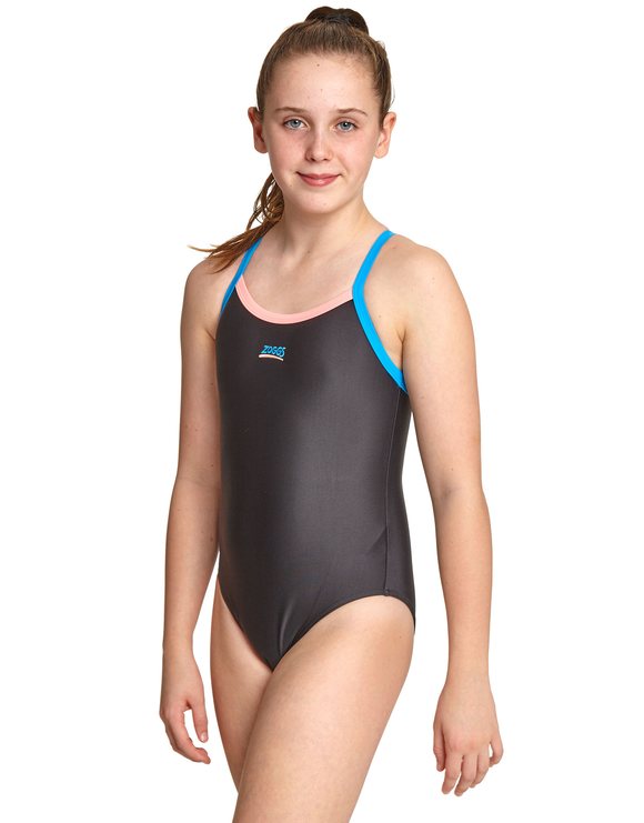 Zoggs Girls Kerrawa Strikeback Swimsuit