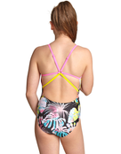 Zoggs Girls Palms Star Back Swimsuit Rear View