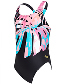 Zoggs Girls Palms Rowleeback Swimsuit