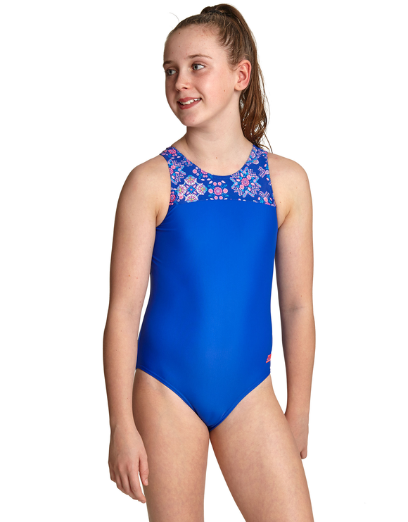 Zoggs Girls Enchanted Infinity Back Swimsuit