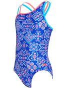 Zoggs Girls Enchanted Crossback Swimsuit