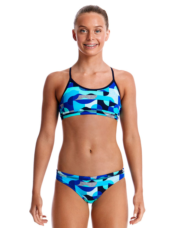 Funkita Girls Sea Spray Racerback Bikini