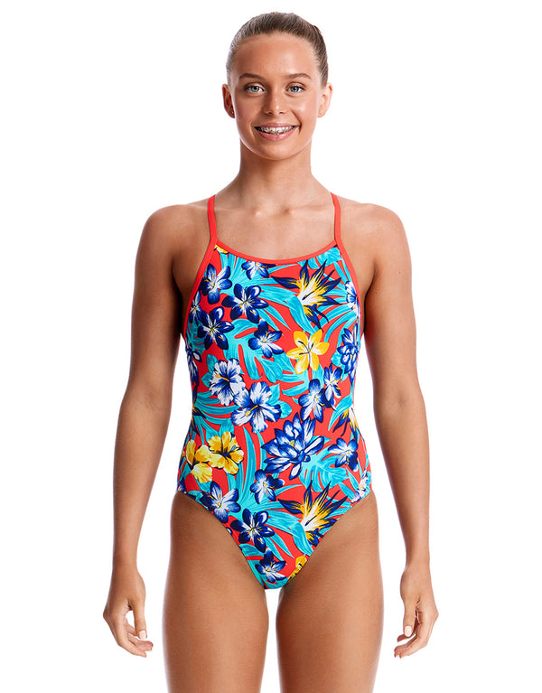 Funkita Girls Aloha from Hawaii Diamond Back Swimsuit