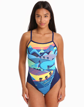 119575c620452 Funkita Womens Allez Allez Single Strap Swimsuit