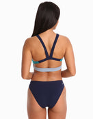 Adidas Womens Parley Colour Block Bikini - Green