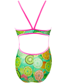 The Finals Coolada Foil Flutter Back Swimsuit