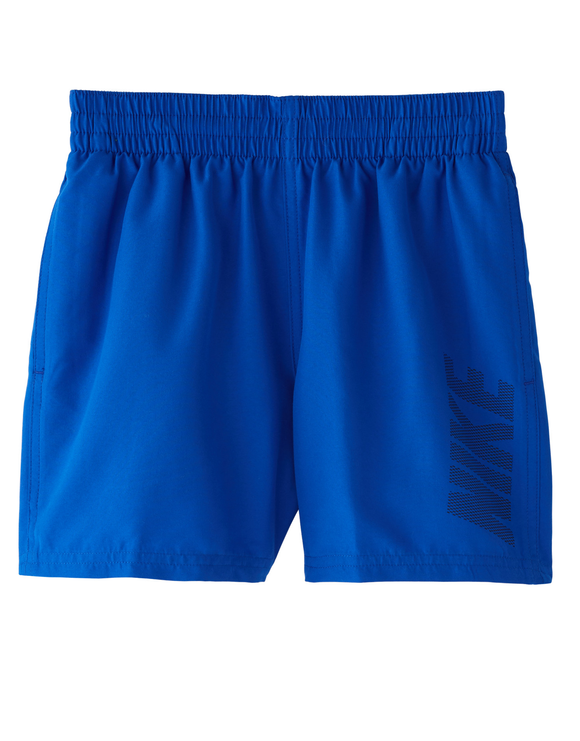 Nike Boys Solid Logo 4 inch Volley Swim Short - Hyper Royal