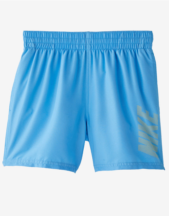 Nike Boys Solid Logo 4 inch Volley Swim Short - University Blue