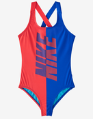 Nike Girls Rift Crossback Swimsuit - Ember Glow