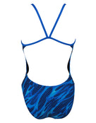Tyr Girls Reaper Cut Out Fit Swimsuit - Blue