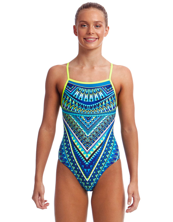 Funkita Girls Ice Queen Strapped In Swimsuit