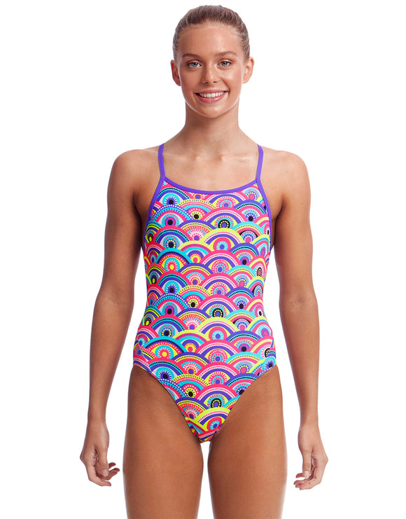 Funkita Girls Eye Candy Diamond Back Swimsuit