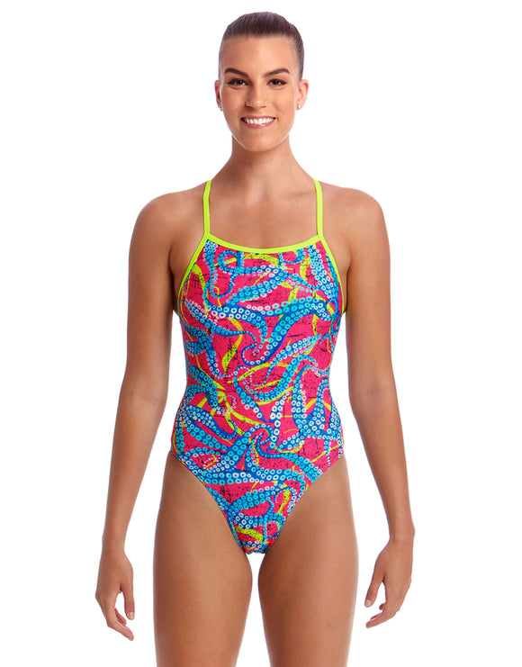 Funkita Squeaky Squid Eco Tie Me Tight Swimsuit