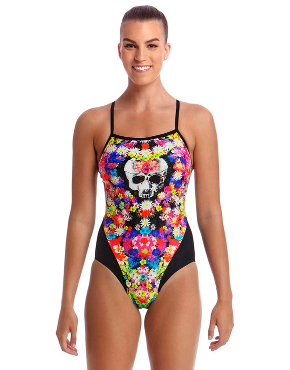 Funkita Skull Garden Single Strap Swimsuit