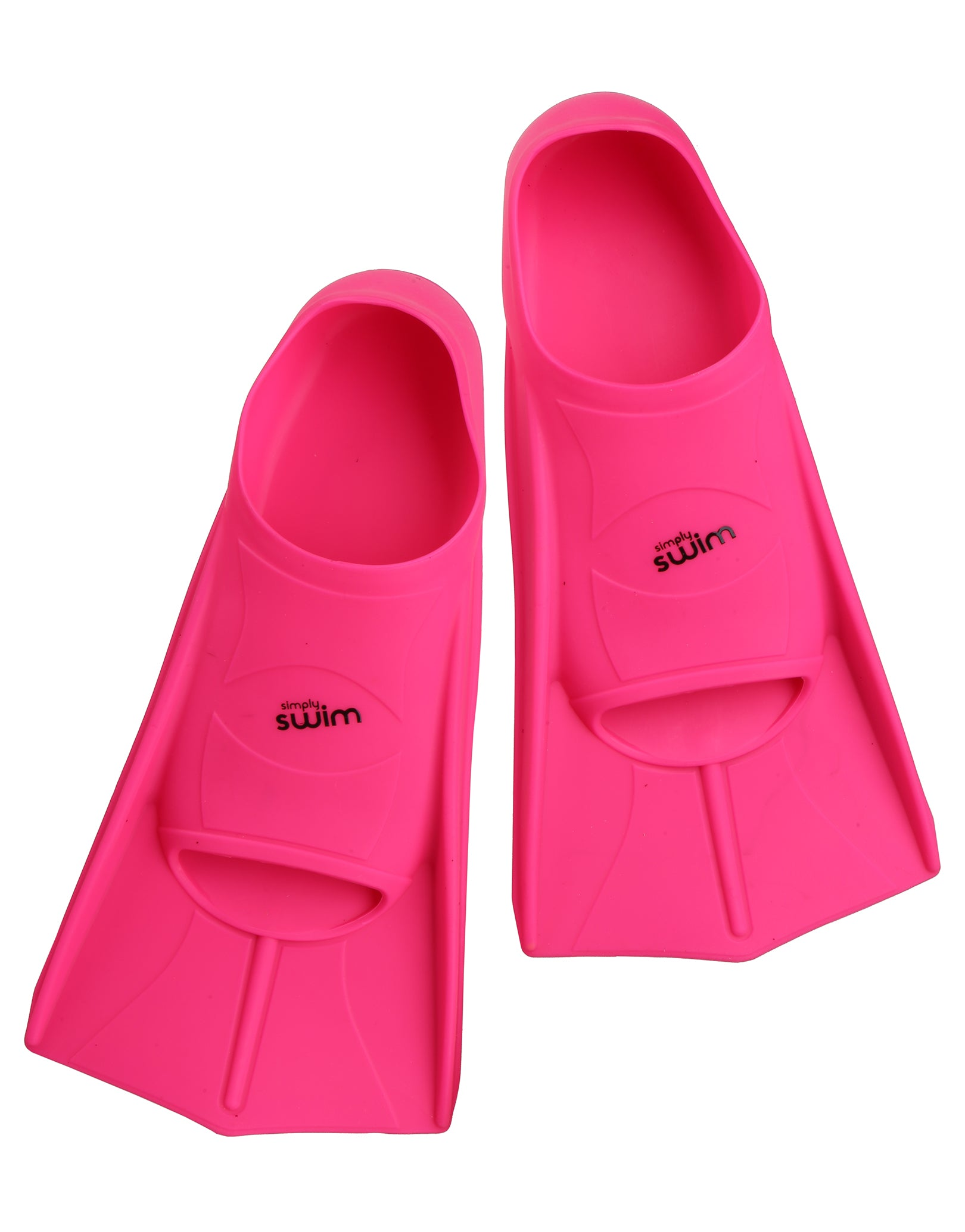 simply swim training fins - pink