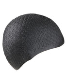 Simply Swim Silicone Bubble Swim Cap - Black