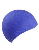 Simply Swim Silicone Bubble Swim Cap - Navy
