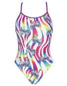 Arena Crazy Zebras Lace Back Swimsuit