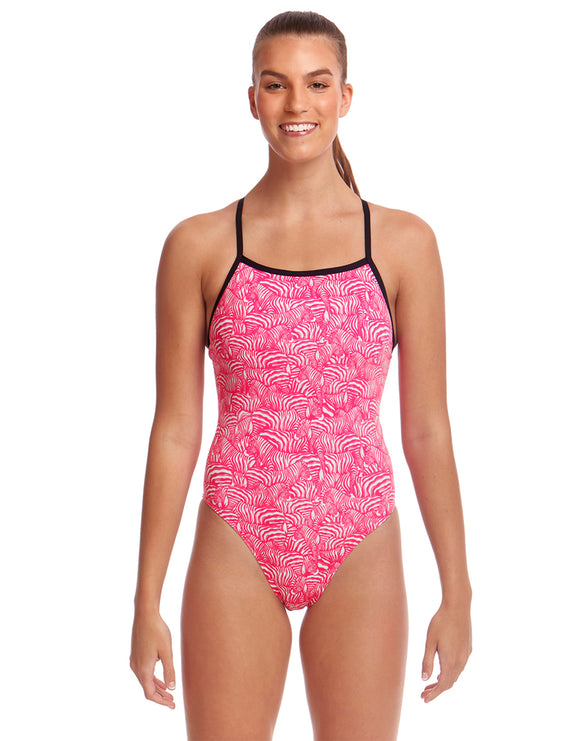 Funkita Painted Pink Eco Tie Me Tight Swimsuit