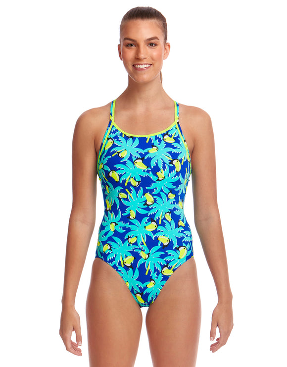 Funkita Bird Brain Eco Diamond Back Swimsuit