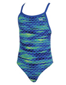 Tyr Girls Castaway Diamondfit Swimsuit - Blue/Green