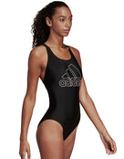 Adidas Big Logo Swimsuit - Black/White