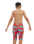 Boys Lobster Roll Pacer Jammer - Red and Blue Back