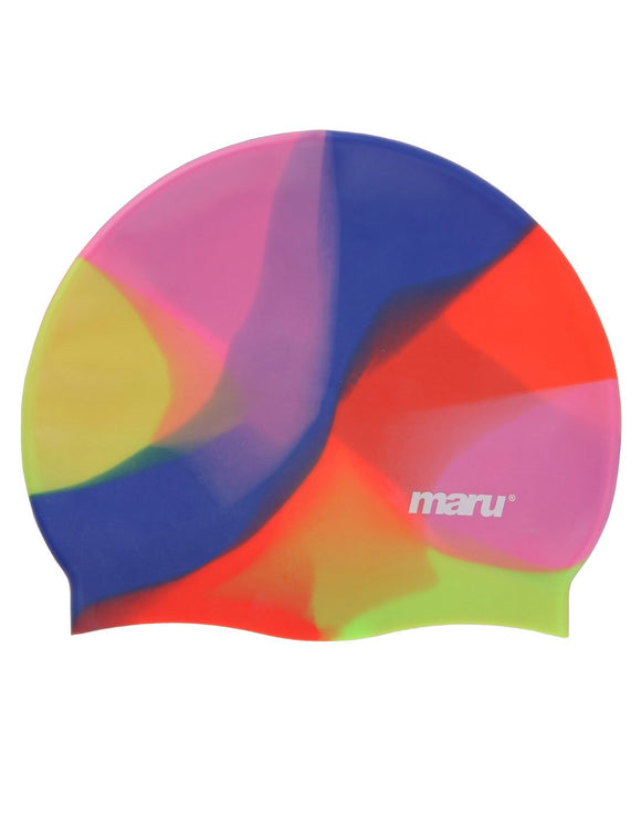 Maru Multi Silicone Swim Hat - Pink/Blue