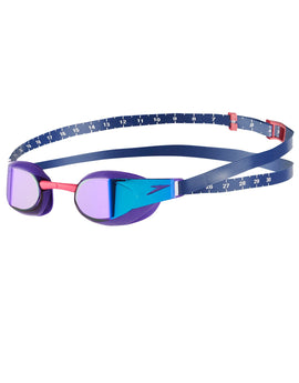 Speedo Fastskin Elite Mirror Goggle - Violet and Blue Mirror