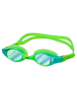 Tyr Swimples Mirrored Junior Goggle - Green