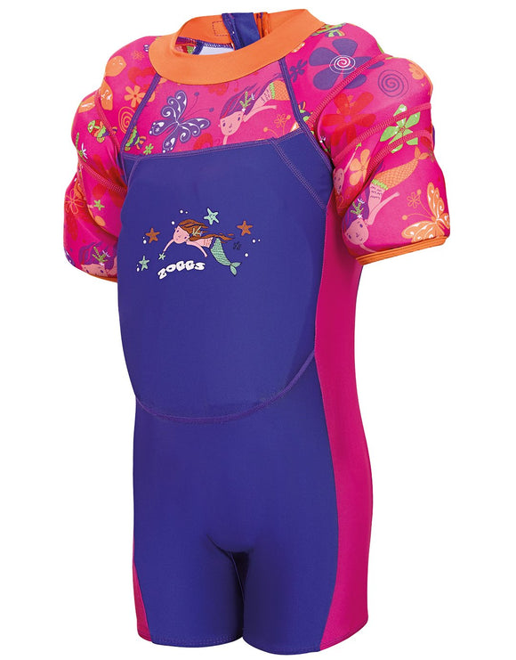 Zoggs Mermaid Flower Water Wing Floatsuit