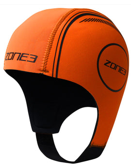 Zone 3 Neoprene Swim Cap - High Vis Orange