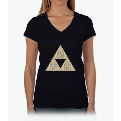 """Balance"" Womens V-Neck T-Shirt"