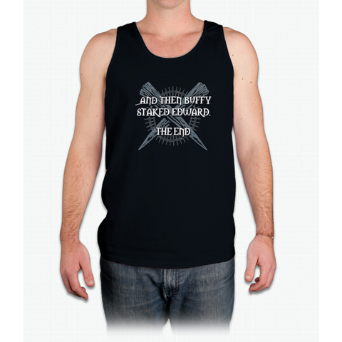 """Buffy staked Edward"" - Mens Tank Top"