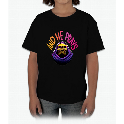 """And he prays"" - Skeletor Young T-Shirt"