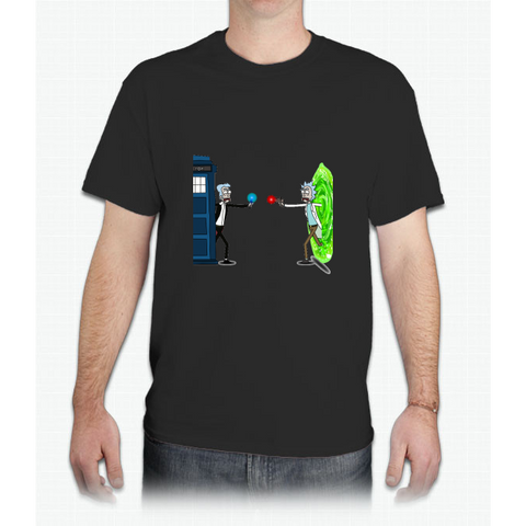 RICKTIONS IN TIME AND SPACE - Mens T-Shirt