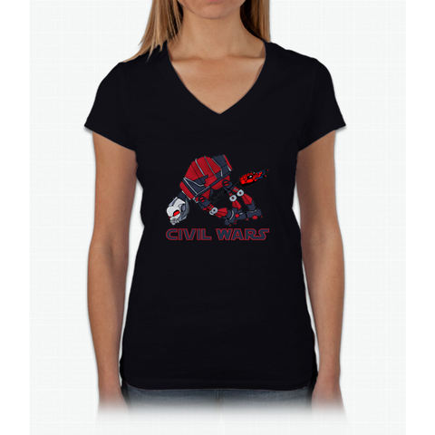 """Like when they were on the snow planet"" (Text) Womens V-Neck T-Shirt"