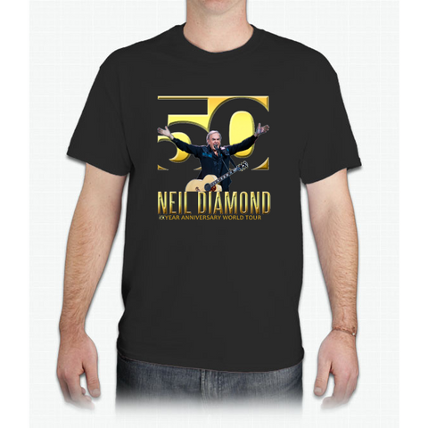 NEIL DIAMOND 50th Year anniversary world tour 2017 limited art design #5 - Mens T-Shirt