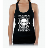 Life begins at forty 1977 The birth of legends Womens Tank Top